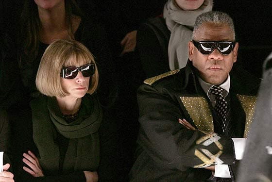 andre leon talley front row with anna wintour
