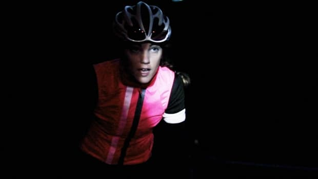 rapha gilet night time