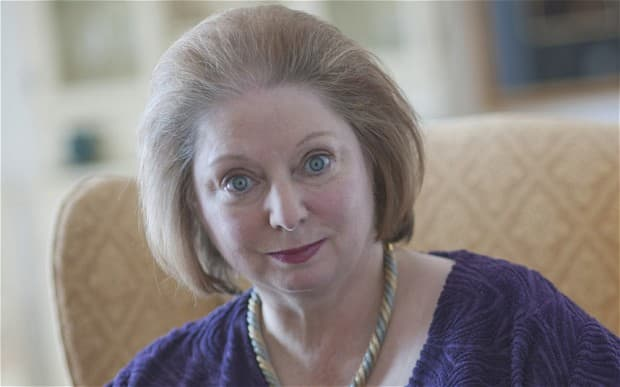 Hilary Mantel - looking nothing like Kate Middleton, she'll be pleased to hear!