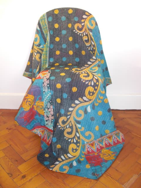 Little India Boutique - vintage-kantha-throw-blue-purple-yellow-[4]-124-p