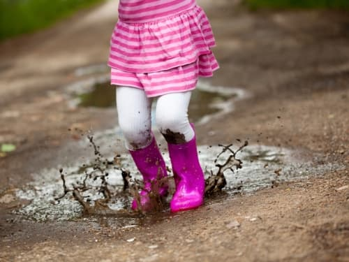 muddy puddles and wellies