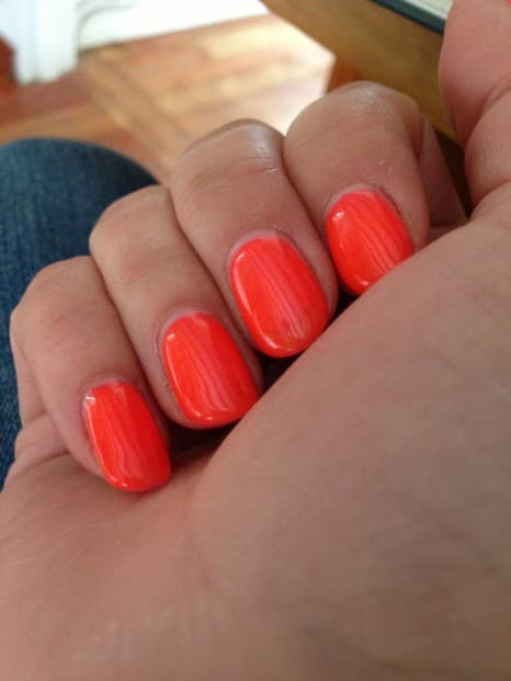 My lovely gel nails (one week old in this photo)