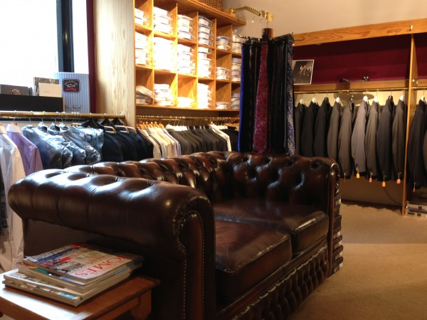 The upstairs area at Gallant - home of suits, alterations and dreamy Lagerfeld shoes