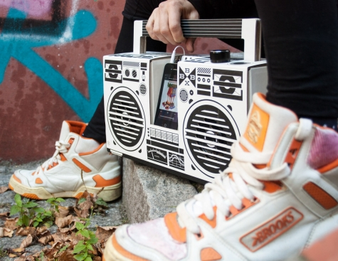 berlin boombox at feet