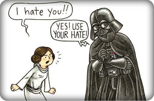 darth vaders 'use your hate'