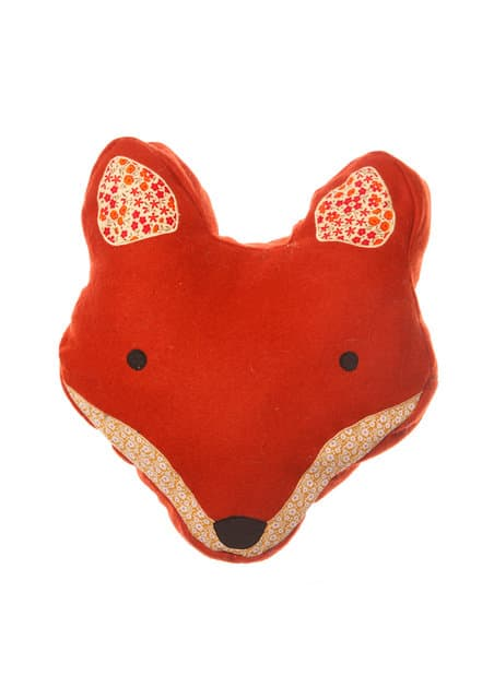 cargo fox cushion orange