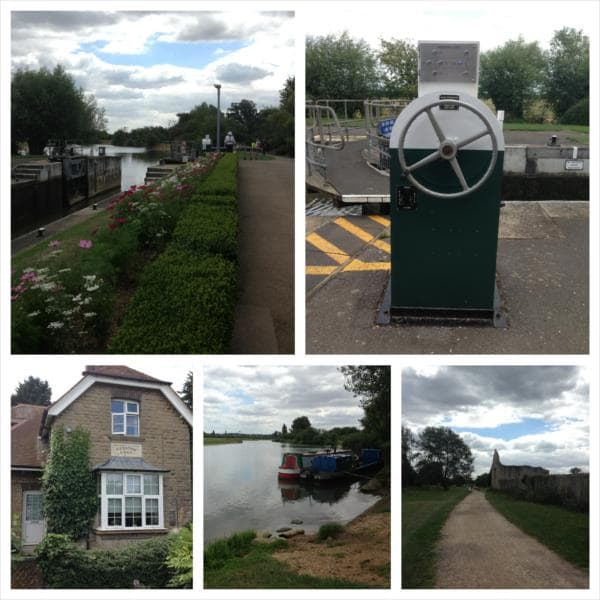 Godstow Lock, canal boats moored on the Isis and th XXX