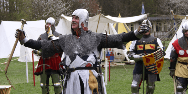 medieval pageantry at open air museum