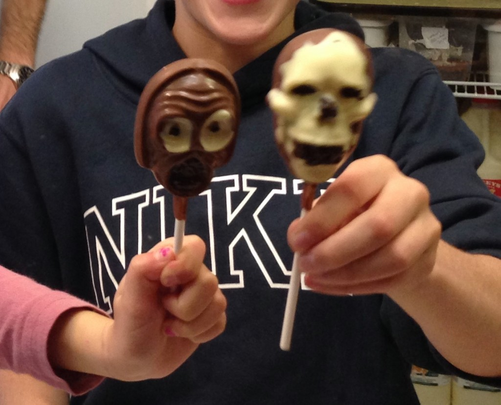 skeleton lollies at rumseys