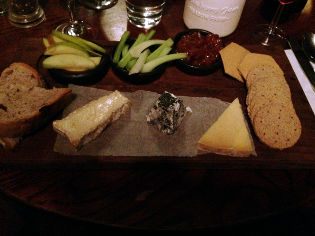 Topped off by a fab cheeseboard